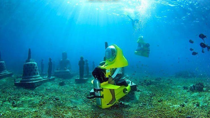 Bali Underwater Scooter at nusa lembongan