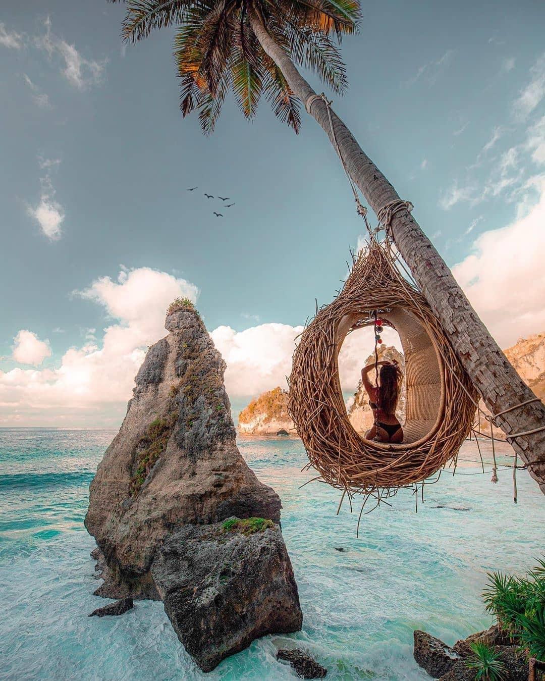 nest birds at diamond beach nusa penida