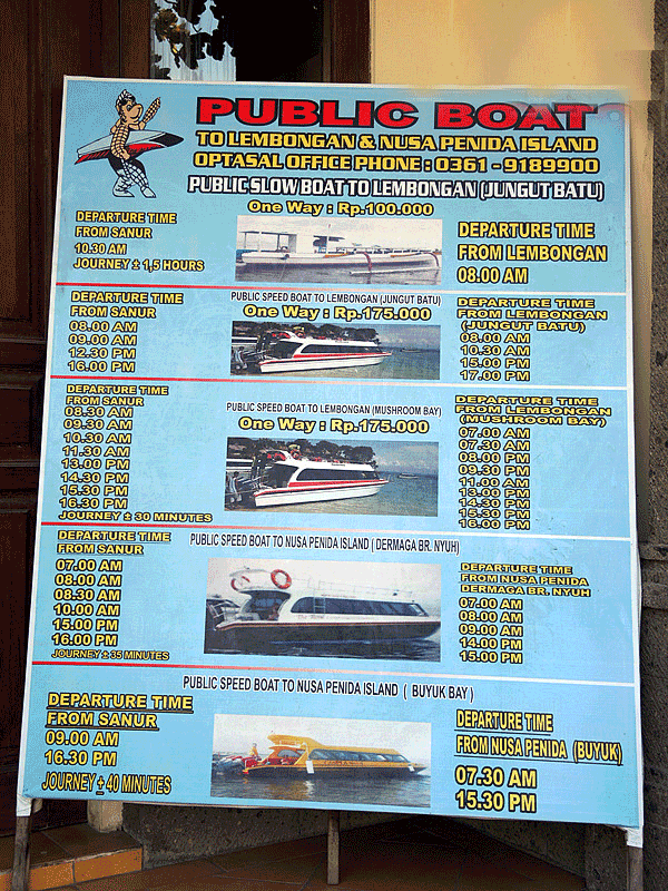 Fastboat price to nusa penida